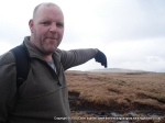 2/4/10 Pointing at Wether Fell from the top of Dodd Fell