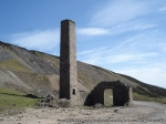 The chimney at Old Gang Smelt Mill