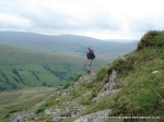24/7/10 Descending Yarlside with Wild Boar Fell and Swarth Fell in the background