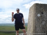 20/8/11 Enjoying an apple at Smearsett Scar trig