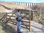 13/3/10 On gate duty with Arten Gill Viaduct in the background