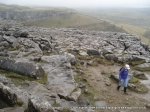 26/2/11 Leaving the Limestone Pavement above Malham Cove