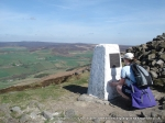 17/4/11 Reading the information about the Iron Age burial site on Beamsley Beacon