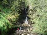 22/4/11 Inspecting the trickle at Mill Gill Force