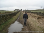 26/2/12 Striding out as we approached Newton Moor