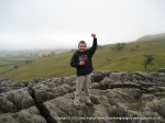 26/2/11 Celebrating after climbing the steps up Malham Cove