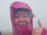 25/6/11 Wet but happy descending Pen y ghent on the Yorkshire 3 Peaks walk