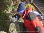 28/12/11 Talking to one of the many cats at Twitchill Farm
