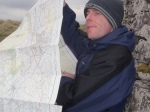 26/3/11 Map checking near Cosh Outside trig point