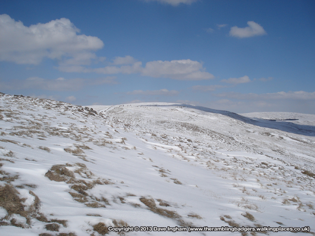 The ridge to Fountains Fell