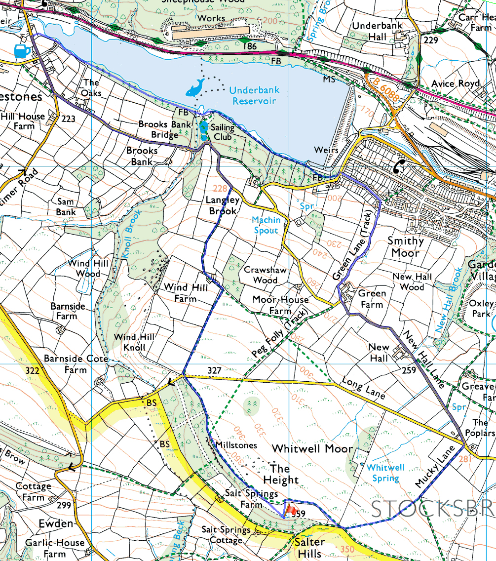 Whitwell Moor routemap