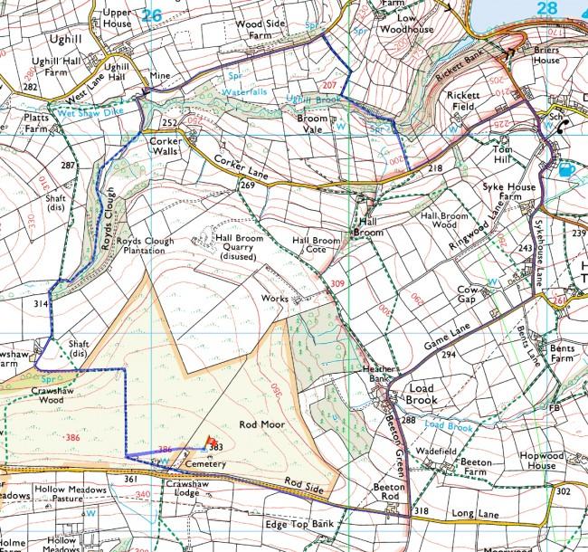 rod moor routemap