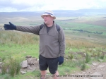 18/9/10 Doing an impression of a signpost on Whernside