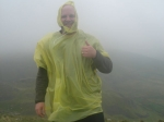 24/9/11 Looking good in a £2.99 poncho at Langcliffe trig point