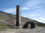 The chimney at Old Gang Smelt Mill