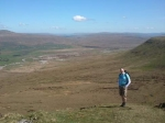 25/5/13 Near the summit of Ingleborough with the Ribblehead Viaduct in the background