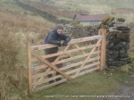 2/4/10 The gatekeeper! On the way back to Hawes from Wether Fell