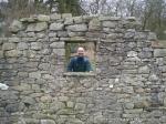 26/2/12 Looking through an old barn wall on the edge of Hudsa Plantation
