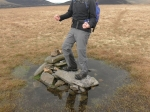 7/4/12 Suring on the cairn on Mungrisdale Common