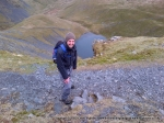 7/4/12 Stood over Scales Tarn near the top of Sharp Edge