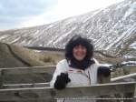31/3/13 Happy on the way up to Pendle Hill