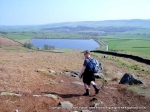 9/4/11 Heading down towards Embsay Reservoir from Crookrise Crag Top