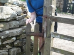 22/4/11 All smiles after squeezing though the smallest gate in the world